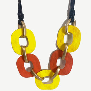 Ladies Necklace Yellow and Orange