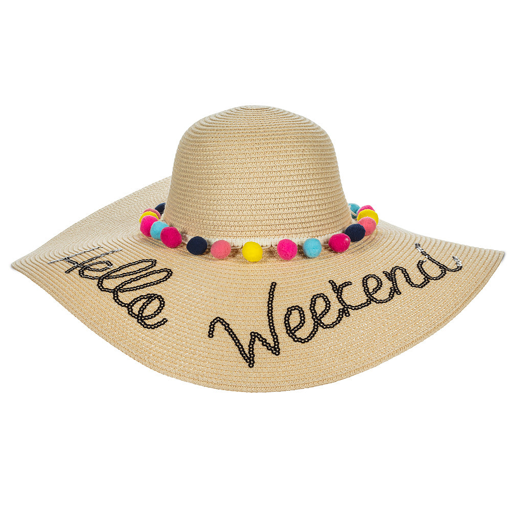 Ladies HELLO WEEKEND beach hat