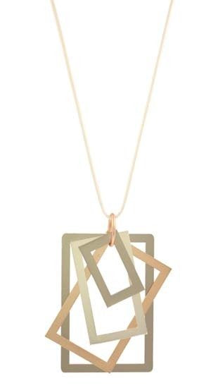 Rectangle pendant in Rose gold