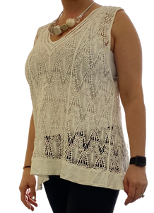 Ladies Crochet Top  available in 5 colours