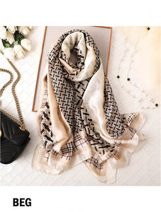 Premium Fashion print  silk Scarf