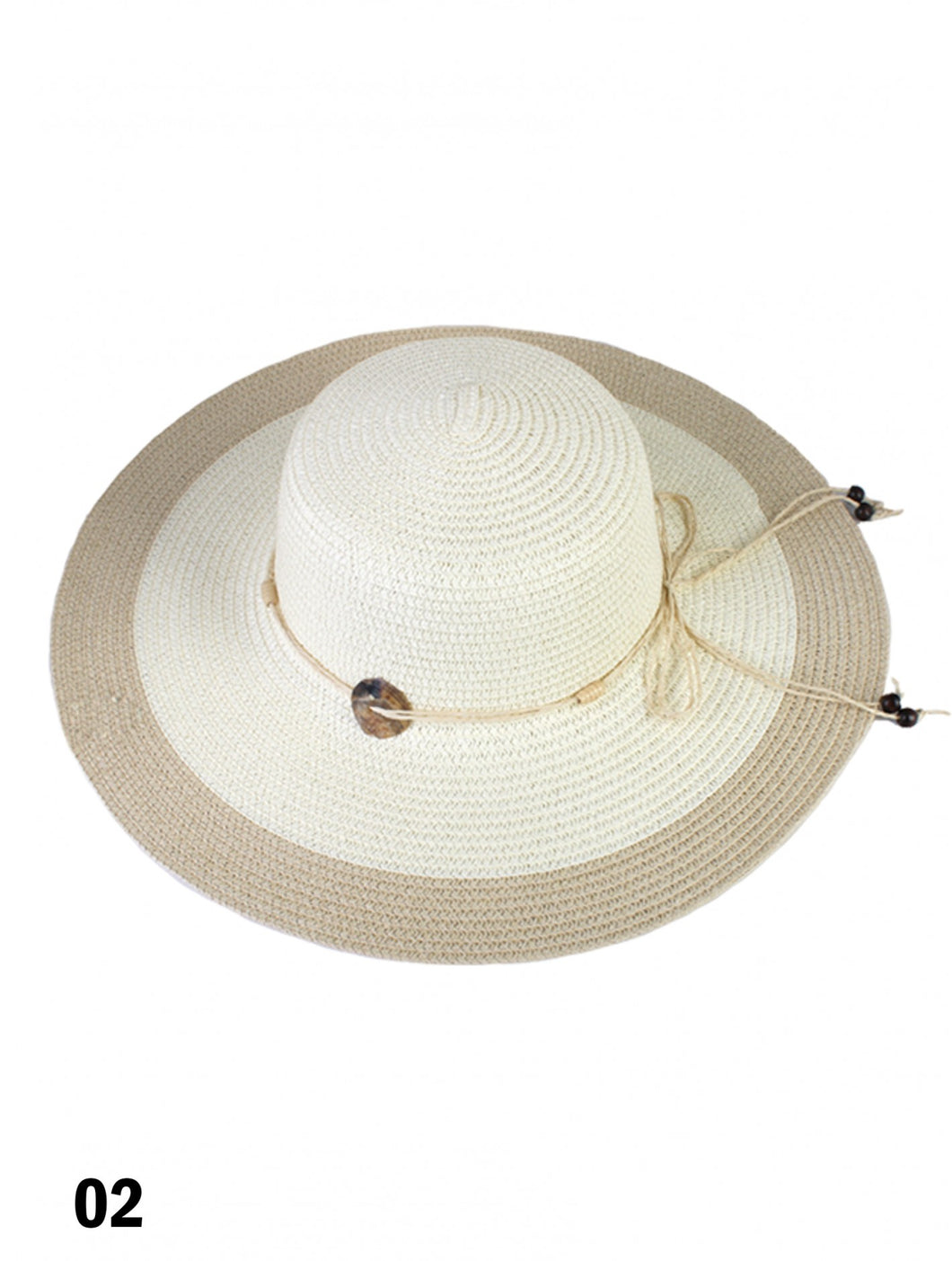 Summer Two Tone Straw floppy Hat
