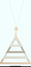 Load image into Gallery viewer, Triangle rose gold toned  necklace