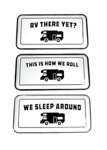 Enamel RV Camping Signs