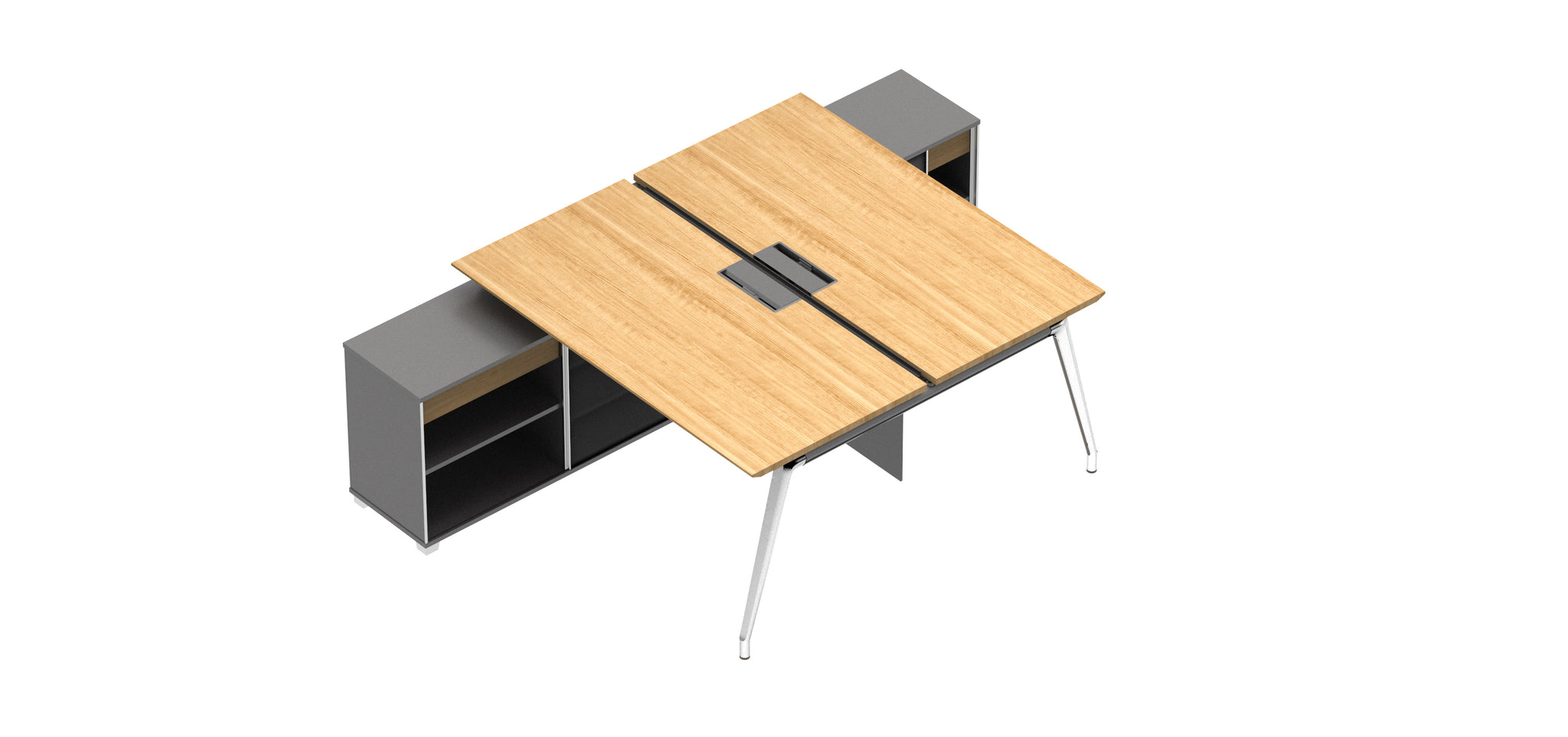 i-Varna Twin Executive Office Desk L-shape - ContractWorld Furniture