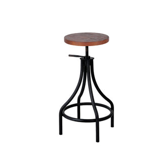 Inicio Bistro Adjustable High-stool with Rubberwood Seat - ContractWorld Furniture
