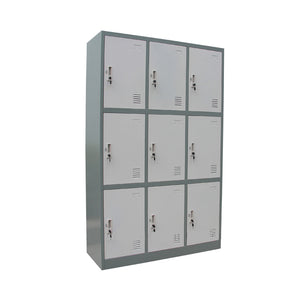 9-Door Steel Lockers - ContractWorld Furniture