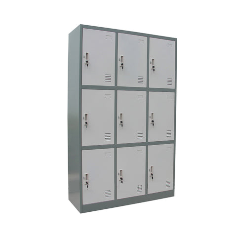 Detro 9-Door Steel Lockers - ContractWorld Furniture