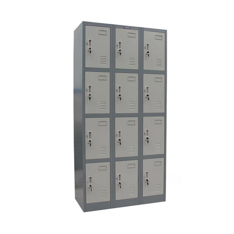 12-Door Steel Lockers - ContractWorld Furniture