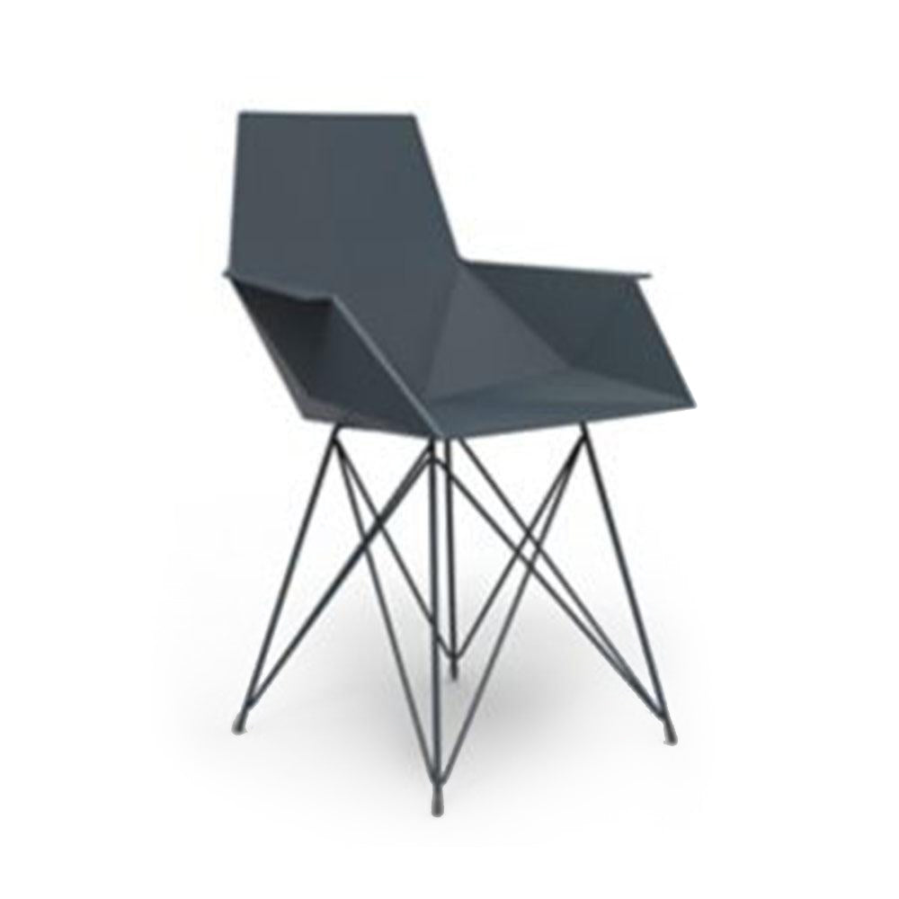 Vondom - Faz Armchair with Stainless Steel Base - ContractWorld Furniture