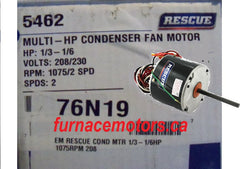 Rescue Condensor Fan Motor Canada  1/3-1/6 HP by Emerson