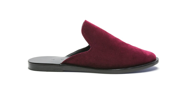 METHONI - BLACK/BORDEAUX VELVET