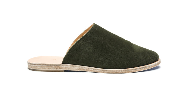 KORONI - NATURAL/ARMY GREEN VELVET
