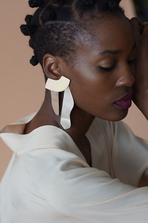 contre forme earrings no. 6