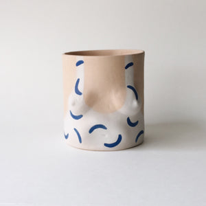 "Unviersal Isaac ""Hockney"" Pot, Blue"