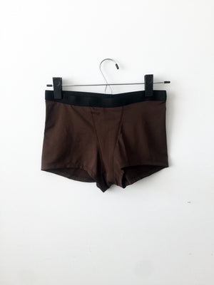 boxer brief, brown