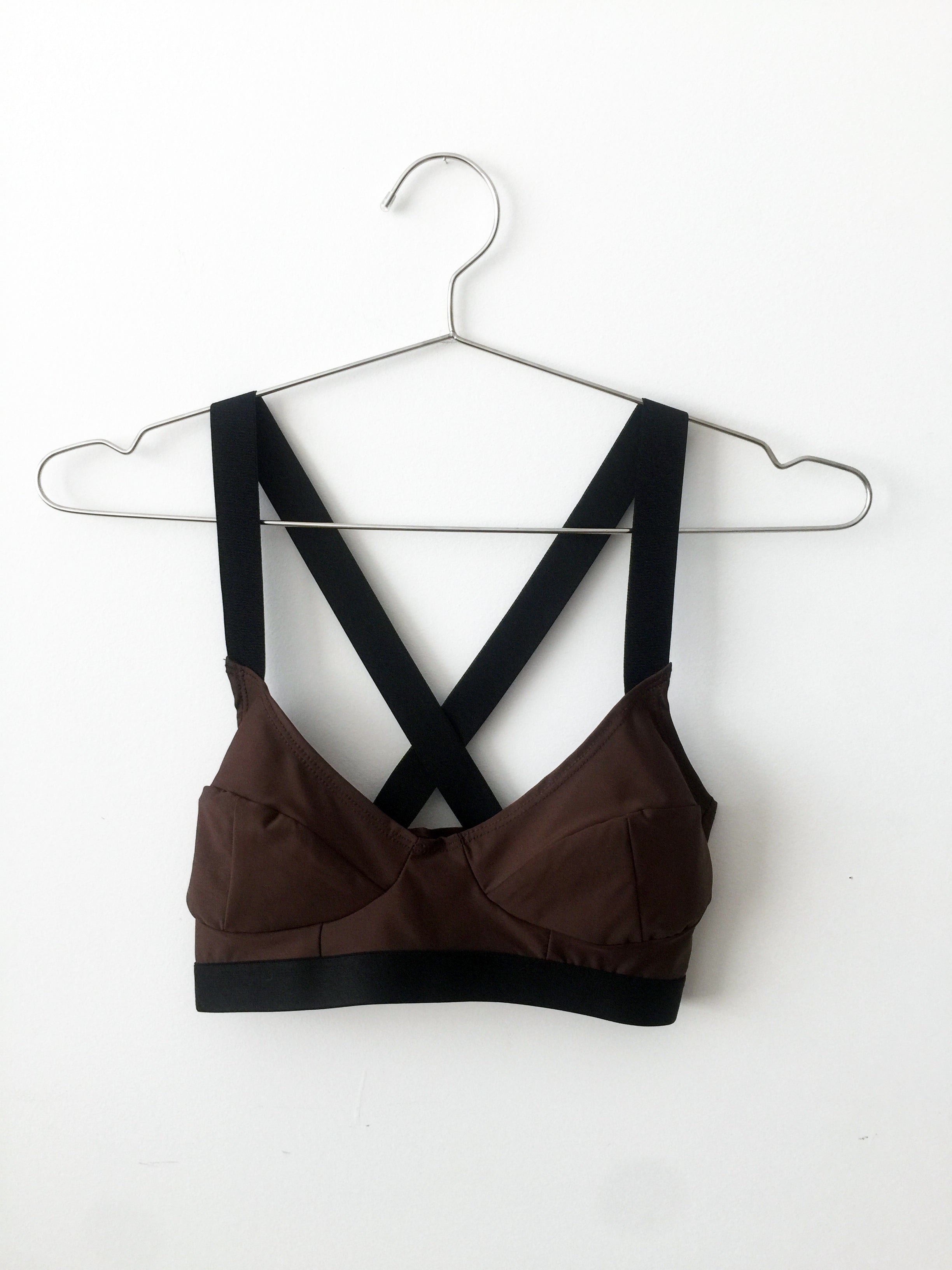 demi bra, brown and black