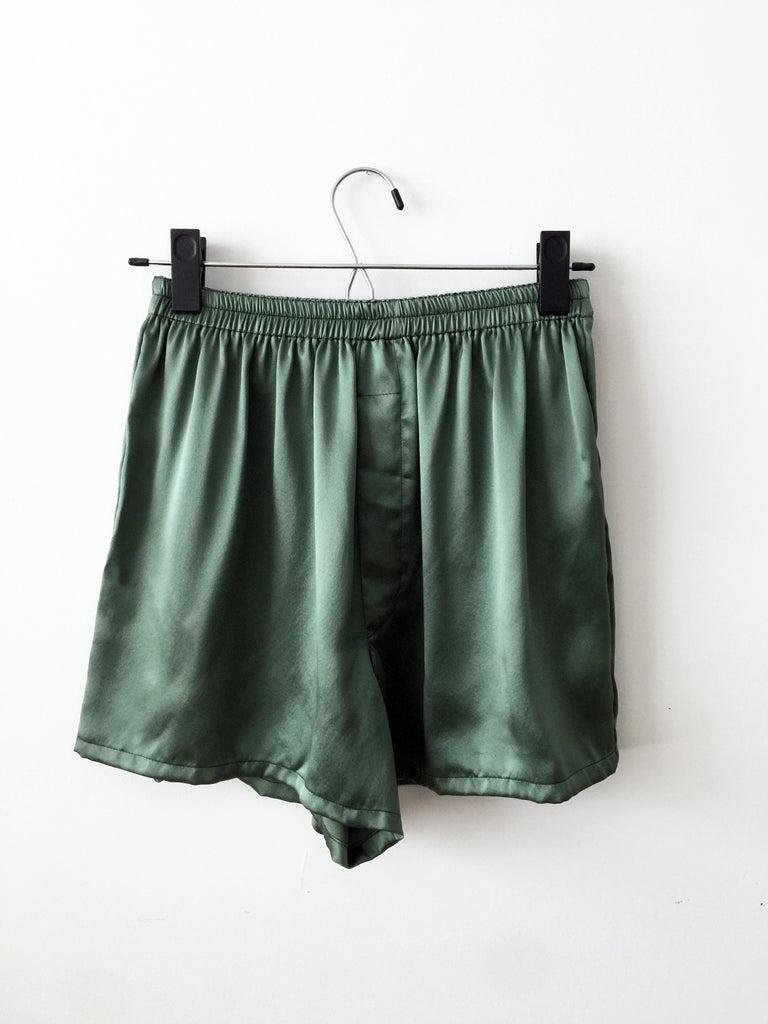 silk boxer, satin