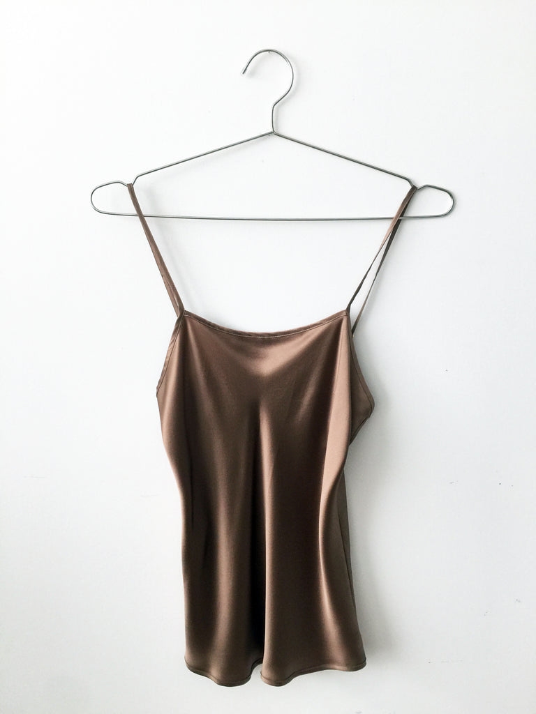 silk cami, cool hazelnut