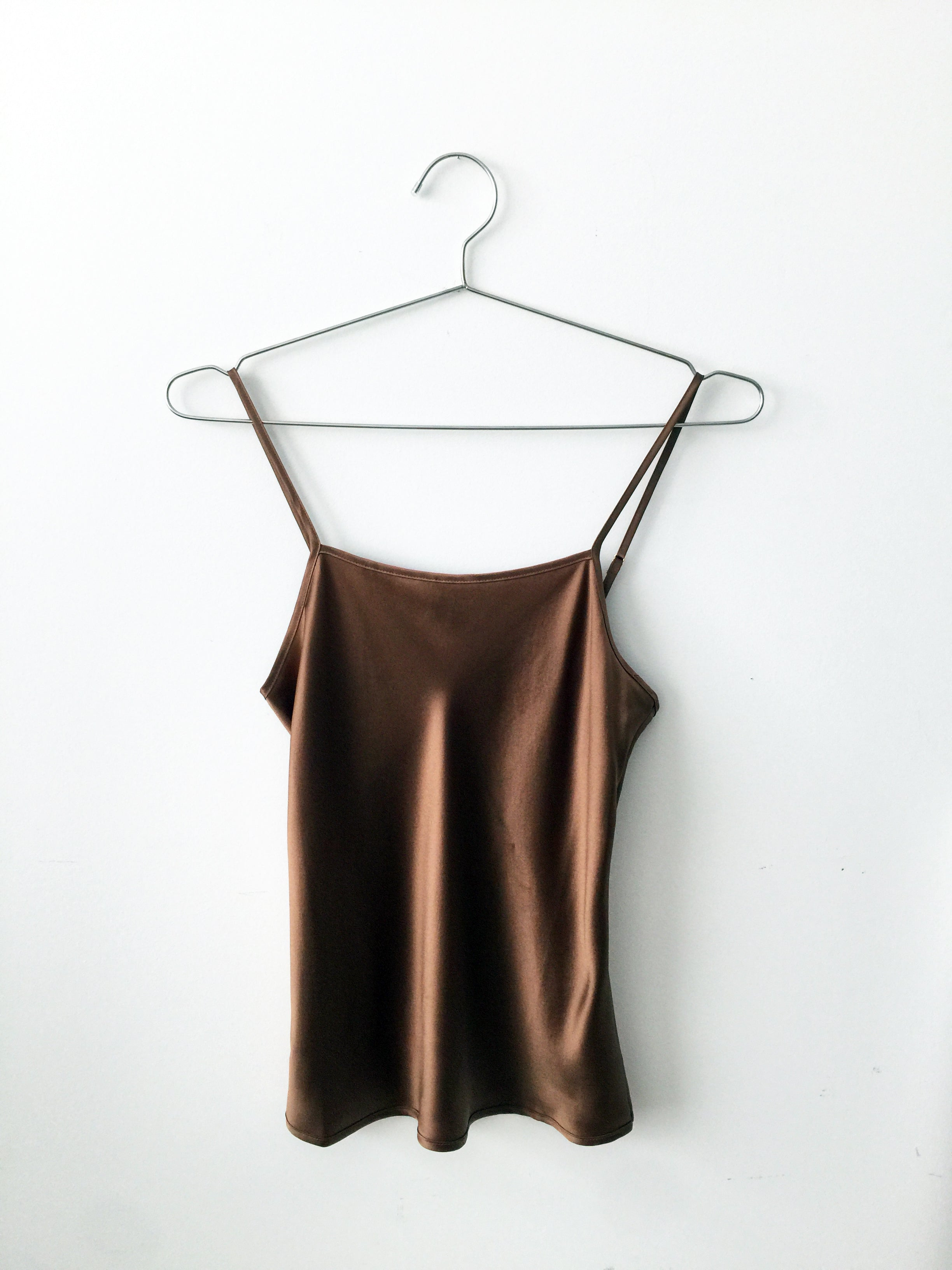 silk cami, warm hazelnut
