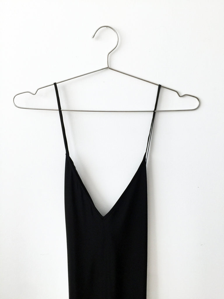 silk slip, black