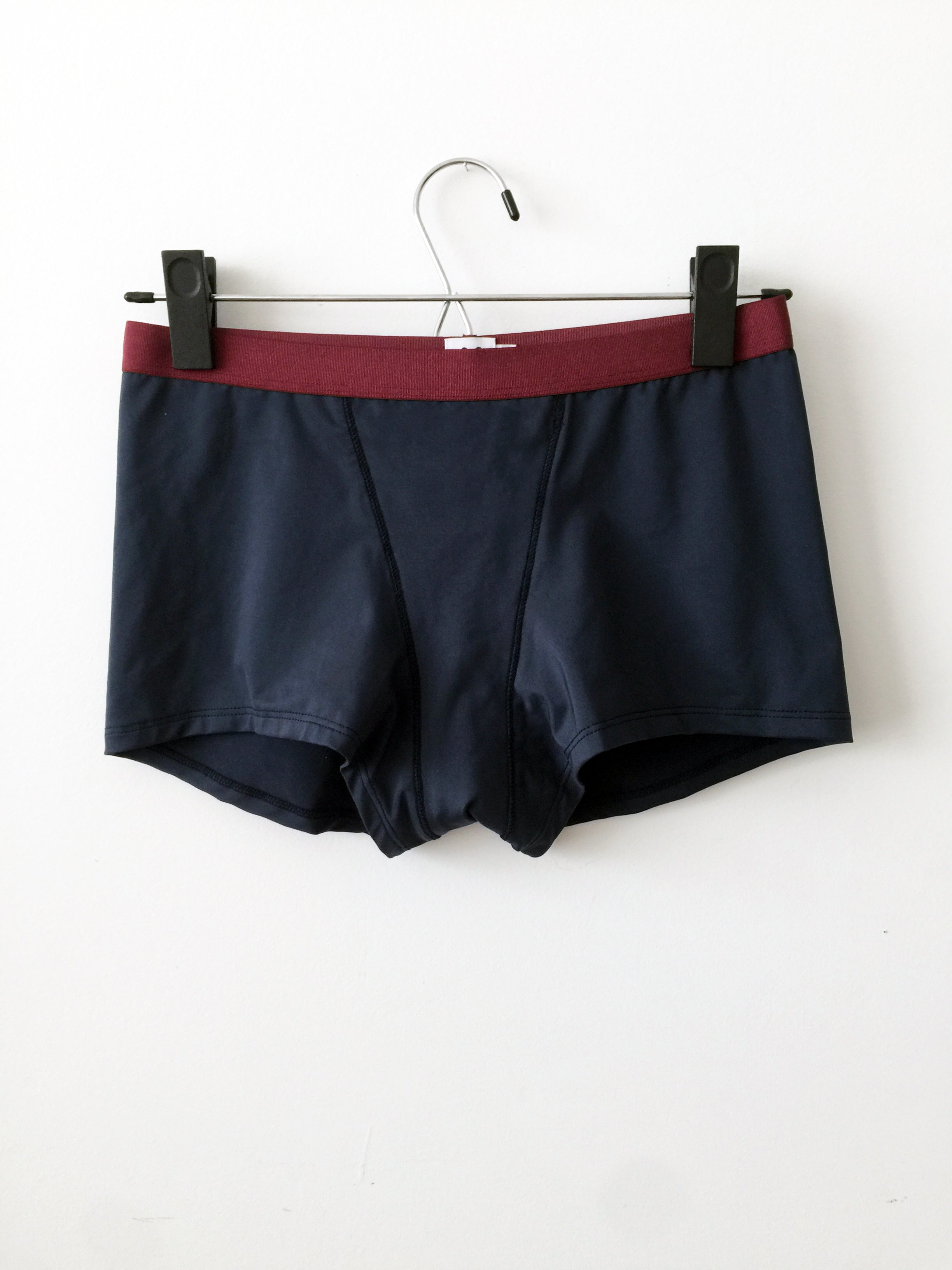 boxer brief, navy and red
