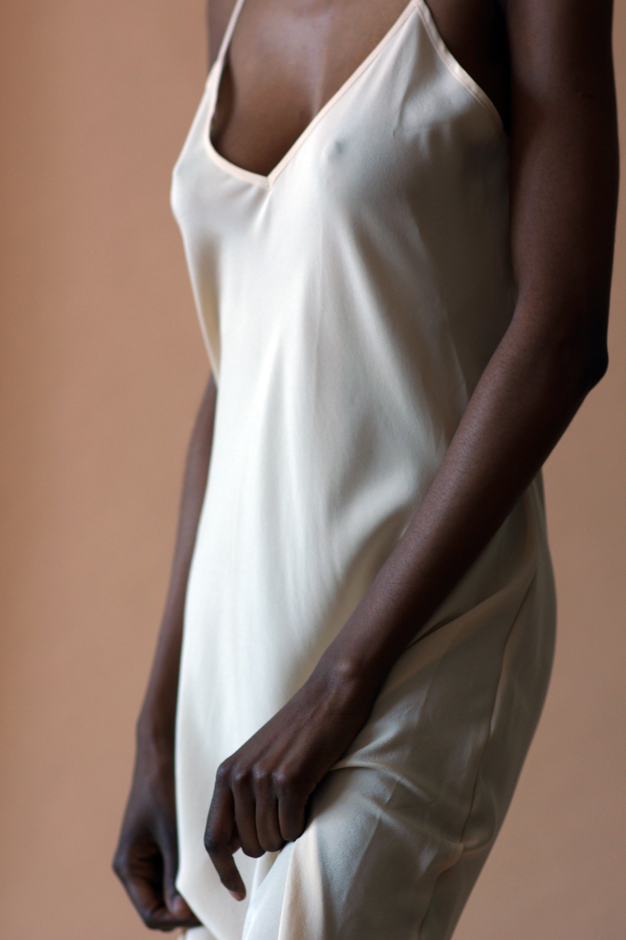cream slip - sample, small