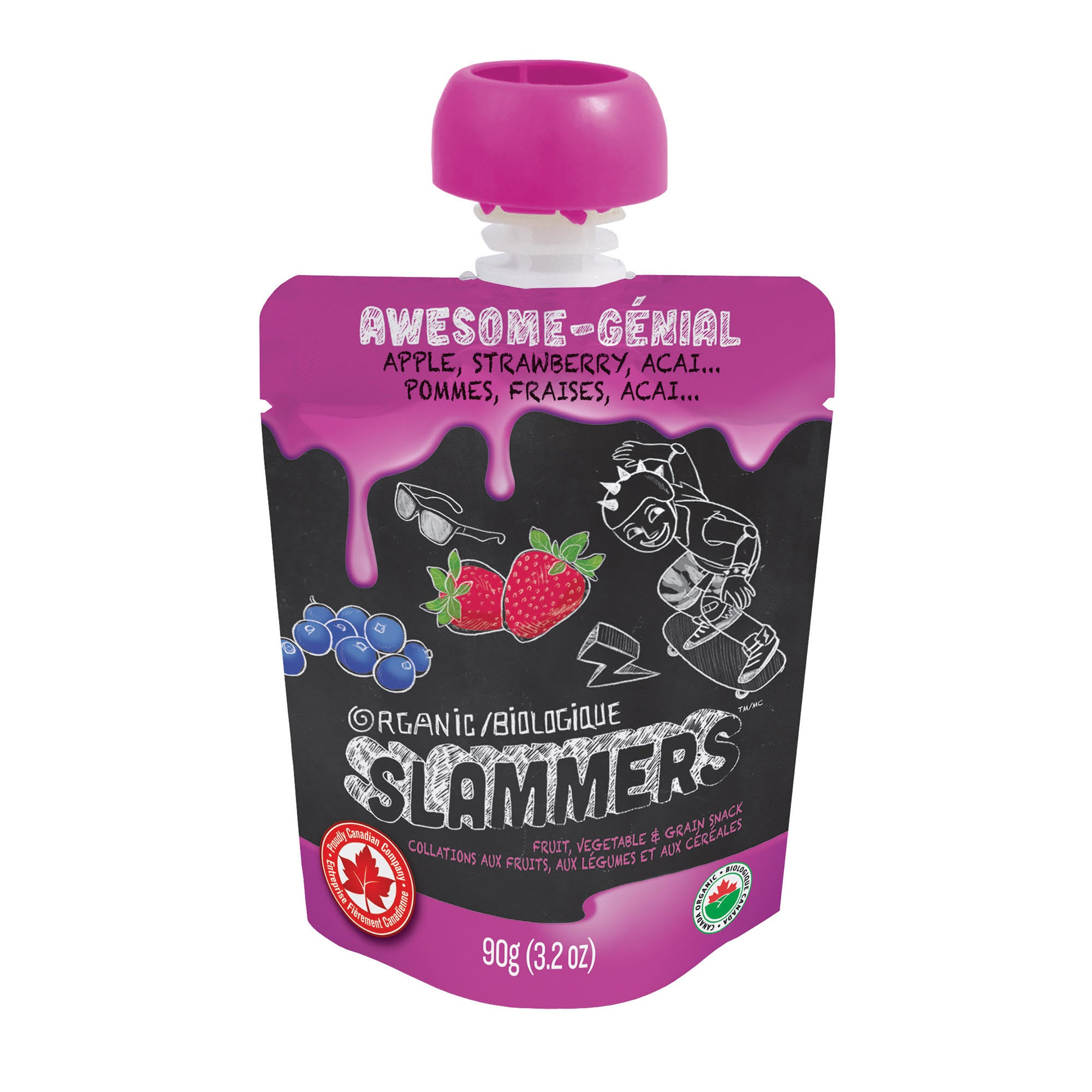 Slammers Awesome Acai Strawberry Apple