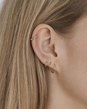 Load image into Gallery viewer, TINY HOOP EARRINGS 10MM GOLD PLATED