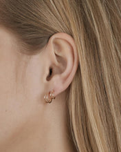 Load image into Gallery viewer, DOUBLE HOOP EARRINGS 8MM GOLD PLATED