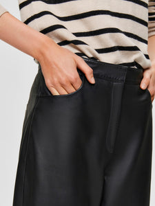 AGNES CROPPED LEATHER PANT