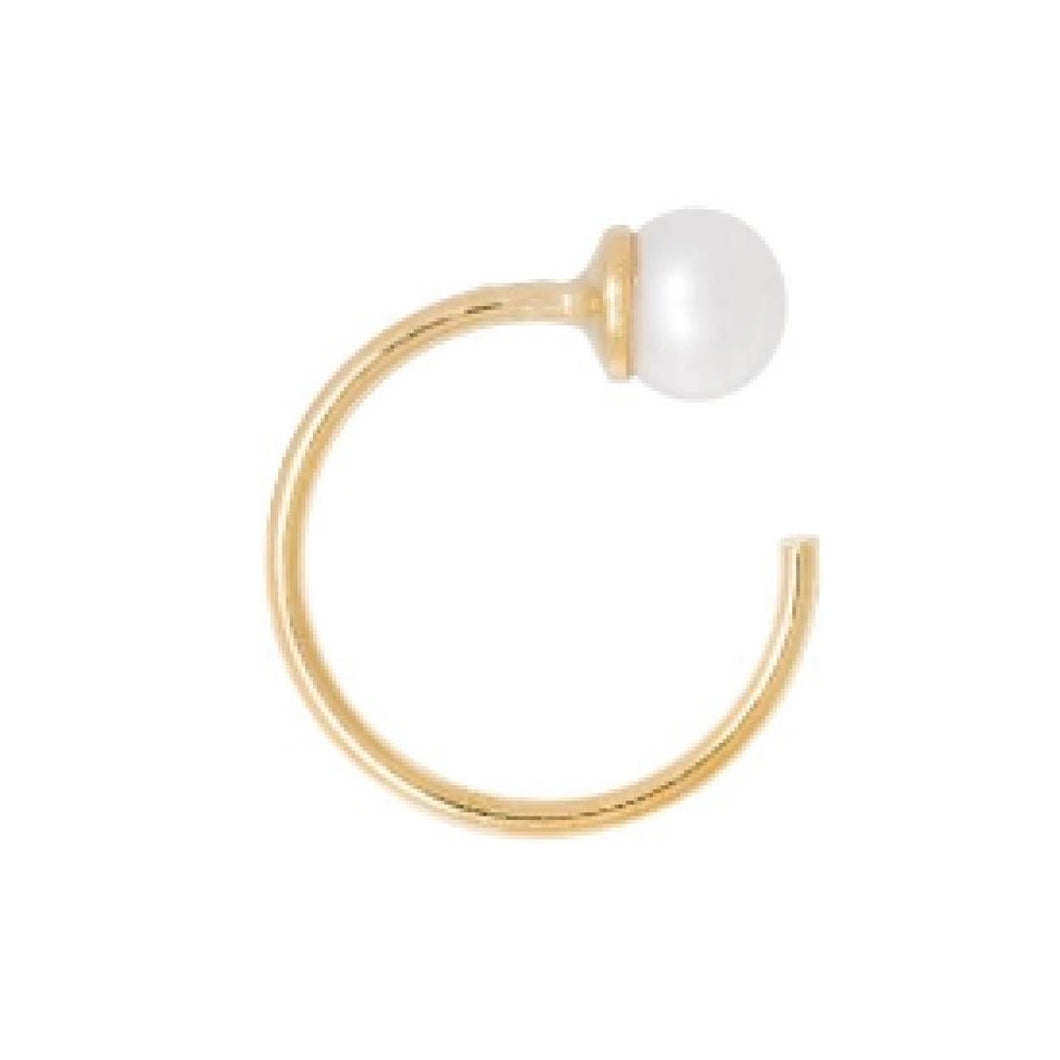 PEARL EARHOOK GOLD PLATED
