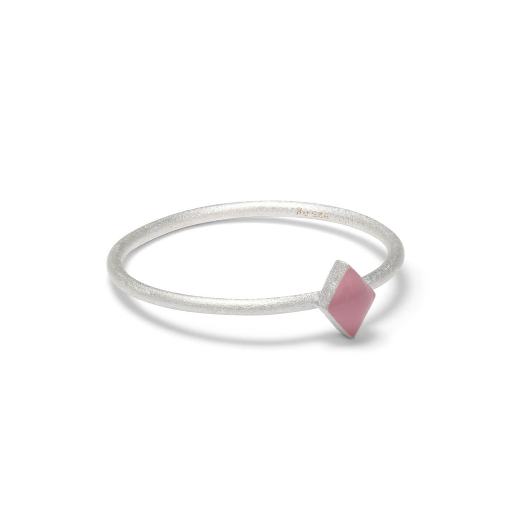 BABY PINK CONFETTI RING SILVER