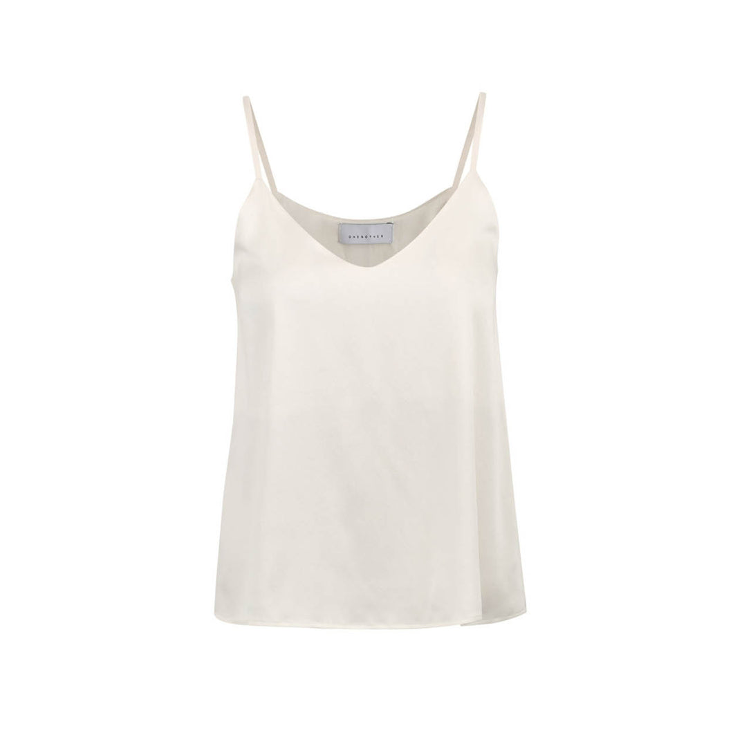 EMILY SILK TOP OFF WHITE