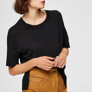 WILLE KNIT TOP BLACK