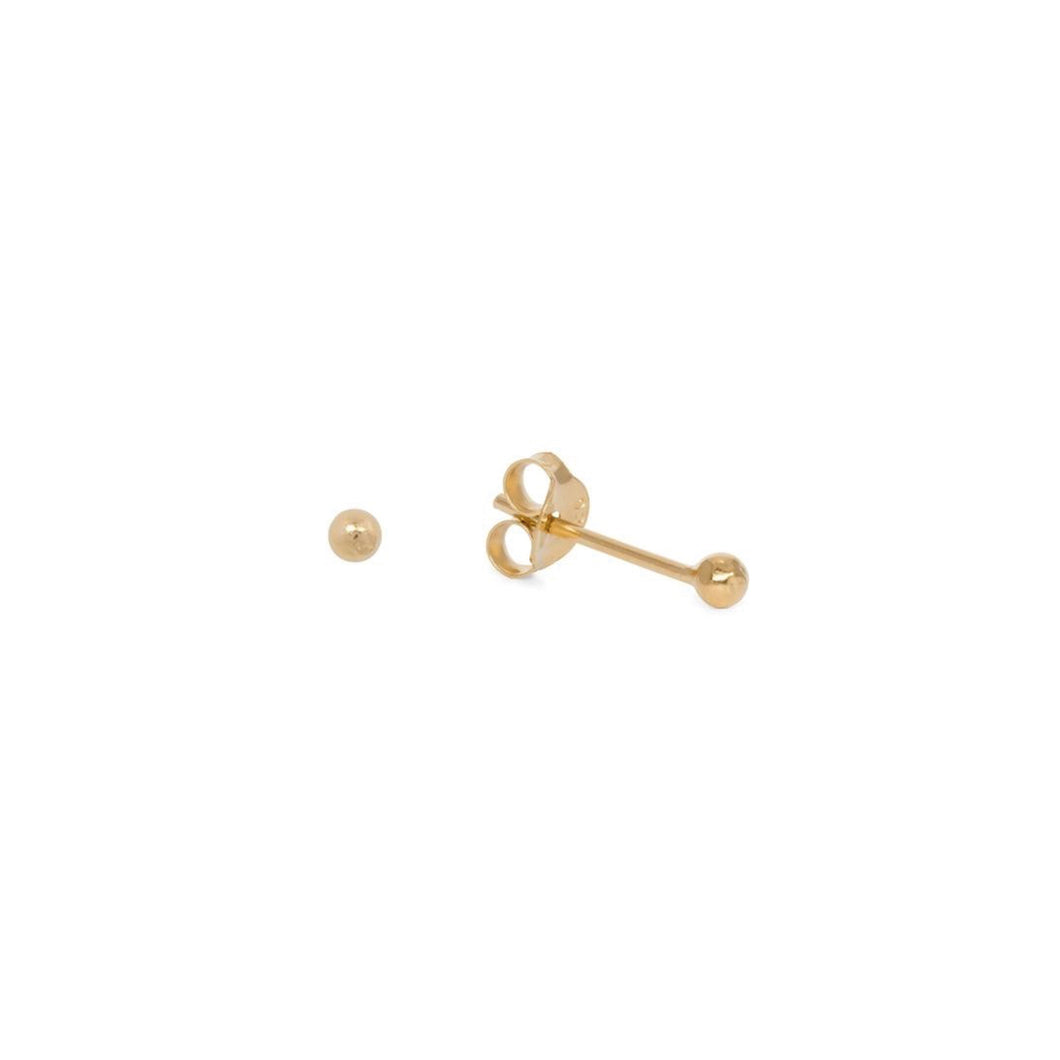 SMALL SIMPLE STUD EARPINS GOLD PLATED