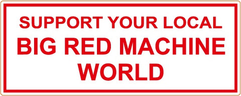 "81 Support Aufkleber ""SUPPORT YOUR LOCAL BIG RED MACHINE WORLD"" - REDANDWHITESTORE"