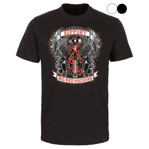 "T-SHIRT ""SUPPORT 81 BIG RED MACHINE AUSTRIA - HAMMER"" - REDANDWHITESTORE ROUTE 81"