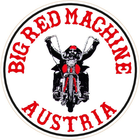 "81 Support Aufkleber ""BIG RED MACHINE AUSTRIA - BIKER"" - REDANDWHITESTORE ROUTE 81"