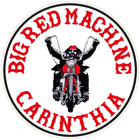 "81 Support Aufkleber ""BIG RED MACHINE CARINTHIA - BIKER"" - REDANDWHITESTORE ROUTE 81"
