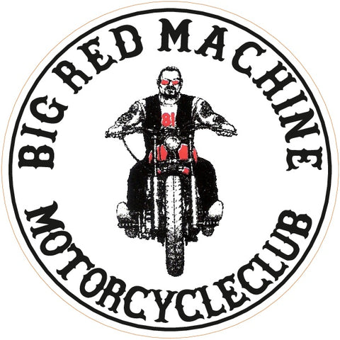 "81 Support Aufkleber ""BIG RED MACHINE MOTORCYCLECLUB"" - REDANDWHITESTORE ROUTE 81"