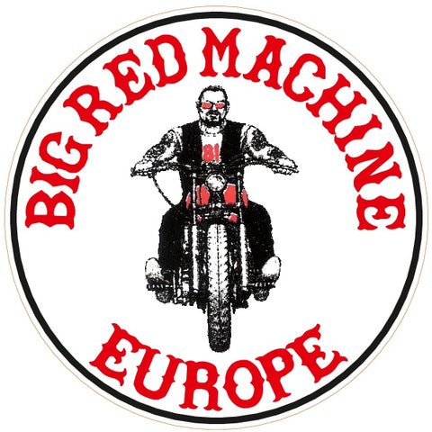"81 Support Aufkleber ""BIG RED MACHINE EUROPE - BIKER"" - REDANDWHITESTORE"