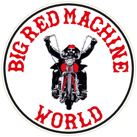 "81 Support Aufkleber ""BIG RED MACHINE WORLD - BIKER"" - REDANDWHITESTORE"