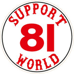 "81 Support Aufkleber ""SUPPORT 81 WORLD"" - REDANDWHITESTORE ROUTE 81"