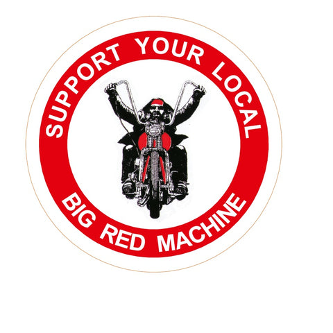 "81 Support Aufkleber ""SUPPORT YOUR LOCAL BIG RED MACHINE - BIKER"" - REDANDWHITESTORE ROUTE 81"