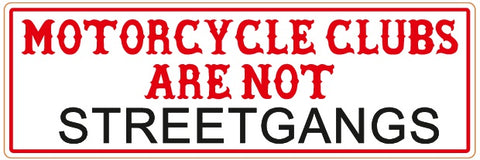 "81 Support Aufkleber ""MOTORCYCLECLUBS ARE NOT STREETGANGS"" - REDANDWHITESTORE ROUTE 81"