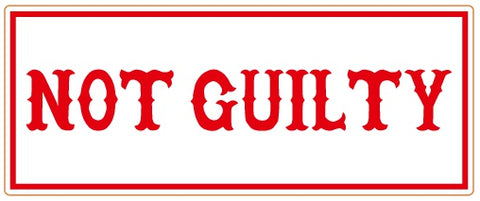 "81 Support Aufkleber ""NOT GUILTY"" - REDANDWHITESTORE ROUTE 81"