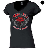 "SUPPORT 81 LADY'S SHIRT ""BAD GIRLS"" - REDANDWHITESTORE"