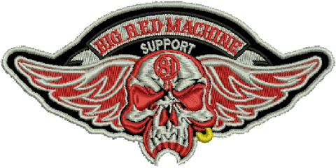 "81 Support Aufnäher ""BIG RED MACHINE SUPPORT 81"" - REDANDWHITESTORE ROUTE 81"