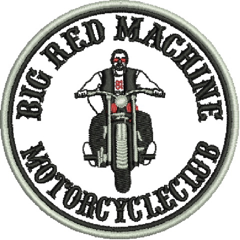 "81 Support Aufnäher ""BIG RED MACHINE MOTORCYCLECLUB"" - REDANDWHITESTORE ROUTE 81"